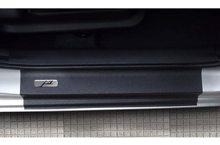 Kit 4 Apliques De Soleira Resinado+black Over J3 Hatch/sedan