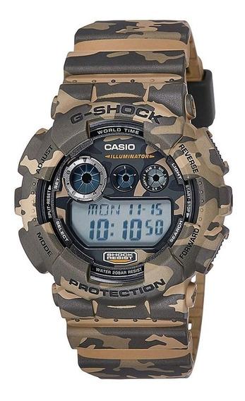 Relógio Casio Masculino G-shock Camuflado Gd-120cm-5dru