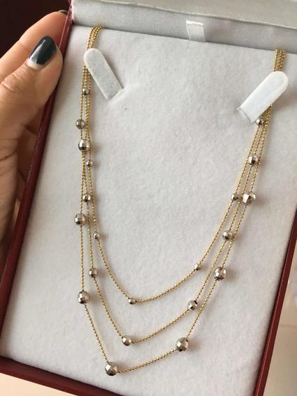 Collar Triple Oro 14k