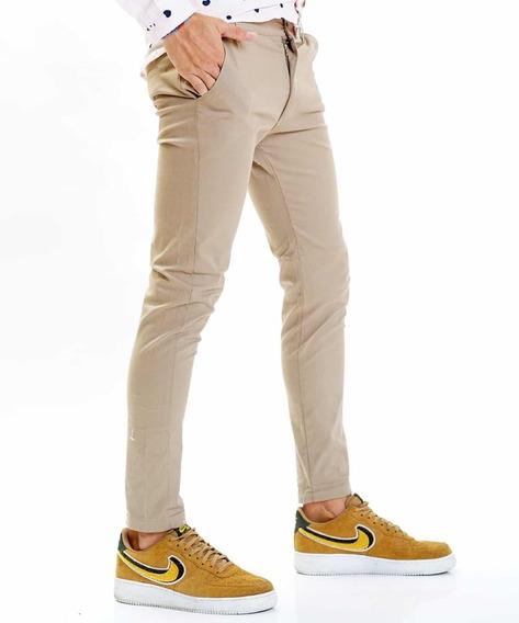 Pantalones Chinos Elastizado Gabardina Pack X3 Vrios Colores