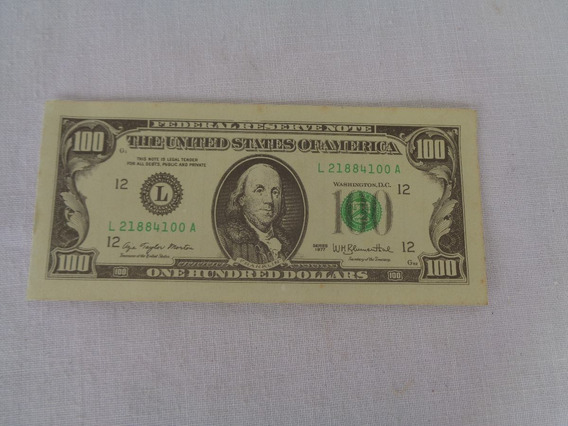 Cédula Pessoal The United States Of America Dolar Memorandum