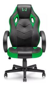 Cadeira Giratória Gamer Verde Warrior Ga160 Multilaser