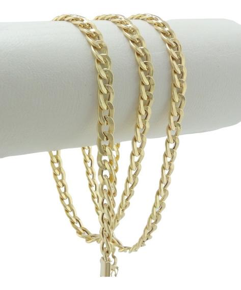 Colar Feminino Corrente Grumet 5,2 50 Cm Ouro Amarelo 18k 7