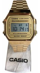 Relógio Casio Unissex Retrô Dourado A168wg-9wdf Digital