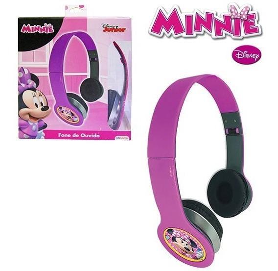 Fone De Ouvido Infantil Dobrável Headphone Minnie Disney