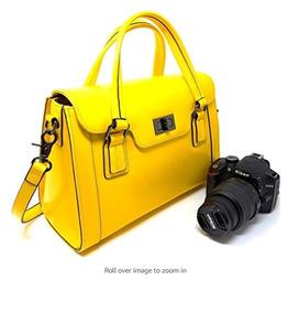 Bolsa Estuche Para Cámara De Mujer Color Amarillo Rofozzi