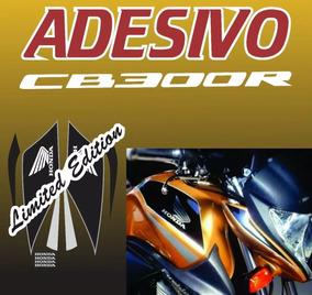 Adesivo Honda Dourada 2008 À 2012 Cb 300r Azul 2014