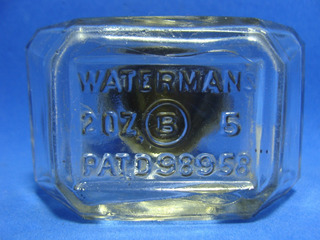 Waterman Antiguo Tintero Tapa De Metal