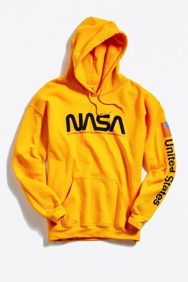 Sueter Sweater Nasa Amarillo Moda Usa