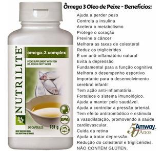 Ômega 3-óleo De Peixe - 90 Cápsulas - Nutrilite - Amway