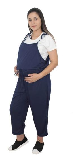 Macacao Jardineira Gestante Maternidade Gravidez Pos Parto