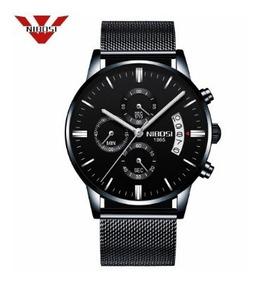 Relógio Masculino Nibosi 2309 A Prova D Água Luxo Com Caixa