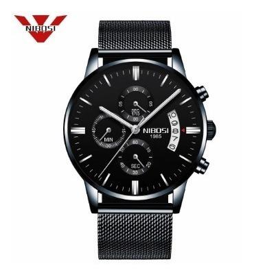Relógio Masculino Pulso Adulto Nibosi 2309 Luxo Com Caixa
