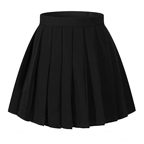 Faldas Sexy De Cintura Alta Plisadas Vintage De La Muchacha