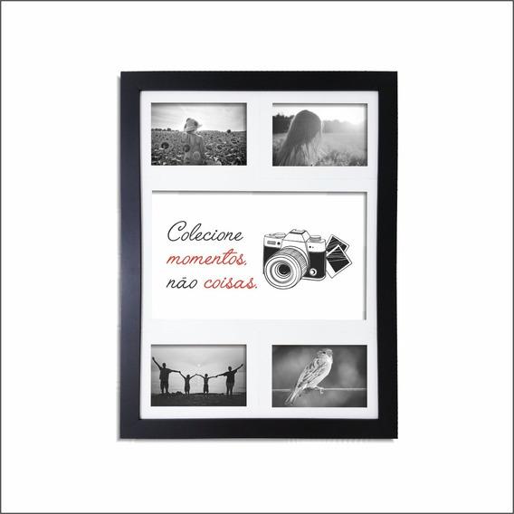 Quadro Painel 4 Fotos Frase: Colecione Momentos..qpl19.q3233