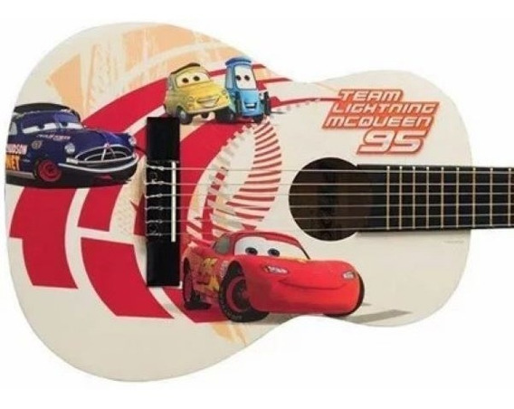 Violão Infantil Carros - Licenciado Disney Team Mcqueen Vic2