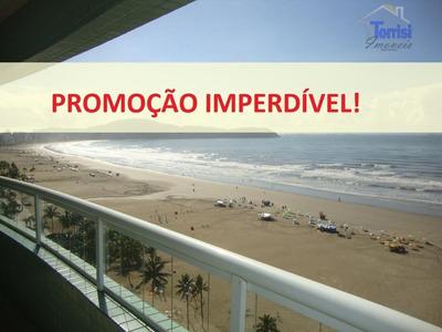 Apartamento Em Praia Grande. Vista Mar Promoção R$ 550.000,00 Á Vista 03 Dormitórios, 03 Vagas Na Guilhermina Ap1392 - Ap1392