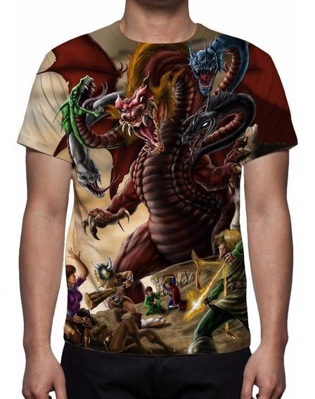Camisa, Camiseta Caverna Do Dragão - Dragão Tiamat