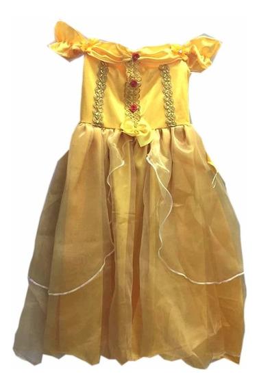 Vestido Princesa Bela Luxo