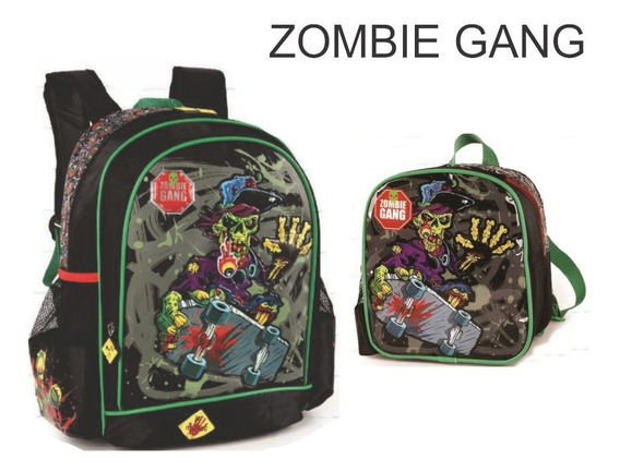 Kit Mochila Infantil + Lancheira Zombie Gang - Is30721zg