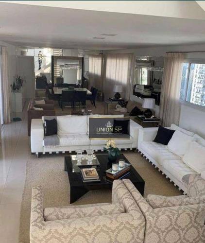 Imagem 1 de 13 de Cobertura Com 3 Dormitórios À Venda, 304 M² Por R$ 3.900.000,00 - Santo Amaro - São Paulo/sp - Co1761