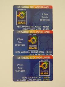Ingressos Mundial 2000 Fifa Corinthians Real Madrid Morumbi