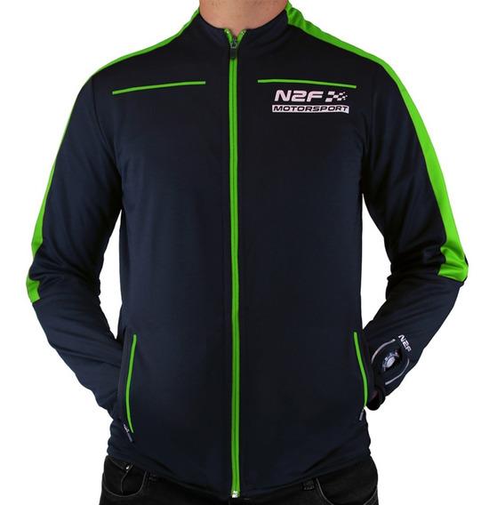 Chamarra Para Hombre N2f Motorsport Azul Y Verde