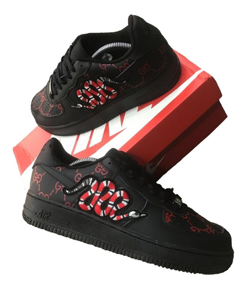 Zapatillas Nike Air Force One Gucci Snake - Hombre 2019