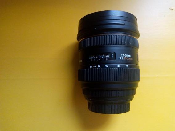 Lente Sigma 24-70mm F/2.8 If Ex Dg Hsm Para Canon
