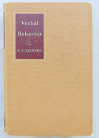 Verbal Behavior 1ª Edição B. F. Skinner Livro Raro