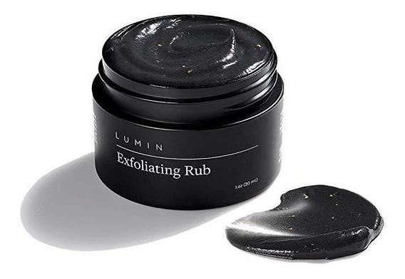 Lumin Exfoliante Rub Hombres (1 Onza) - Carbón Activado Cara