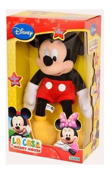 Muñeco De Peluche Mickey Mouse Con Luz Ditoys