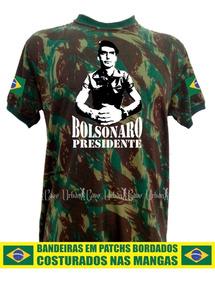 Camisa Camuflada Exército Bolsonaro Capitão