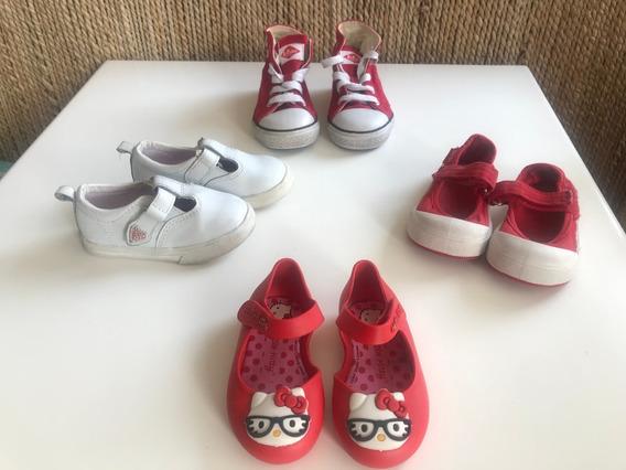 Lote Calzado Niñas Bebé Buen Estado Talle 20-22 (4 Pares)
