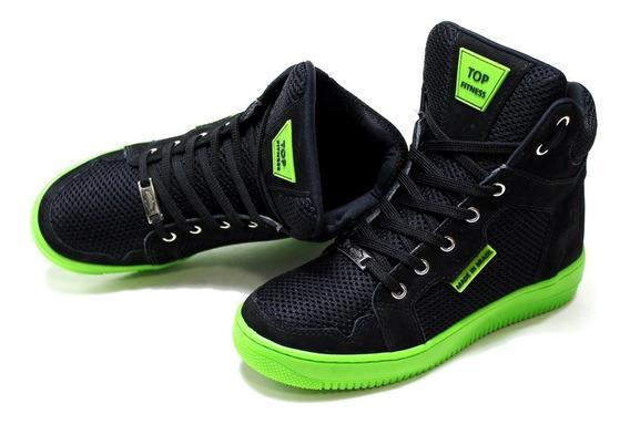 Tenis Sneakers Masculino Feminino Couro Bota Botinha Casual
