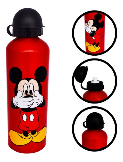 Botella De Agua De Aluminio 750ml Mickey Disney