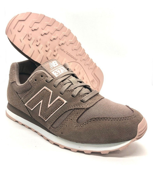 Zapatillas New Balance 373 Dama - Marron Rosa