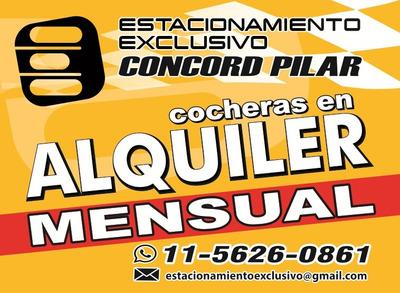 Cochera En Alquiler Concord Pilar - Colección Deportivos