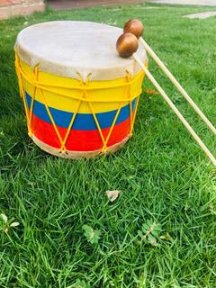 Tambor Tricolor Para Niños Con Golpeadores