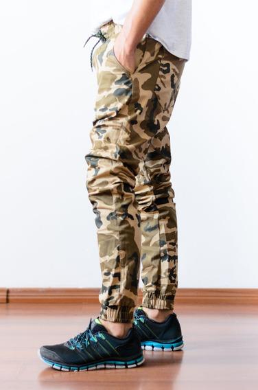 Calça Jogger Masculina Feminina Sarja Jeans Camuflada Oferta