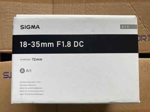 Imagem 1 de 8 de Lente Sigma Art P/ Cânon 18-35mm F1.8 Dc