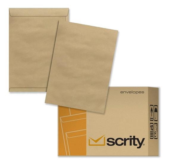 Envelope Metade A4 16 X 23 Cm Pardo 162x229 Mm 250 Un Scrity