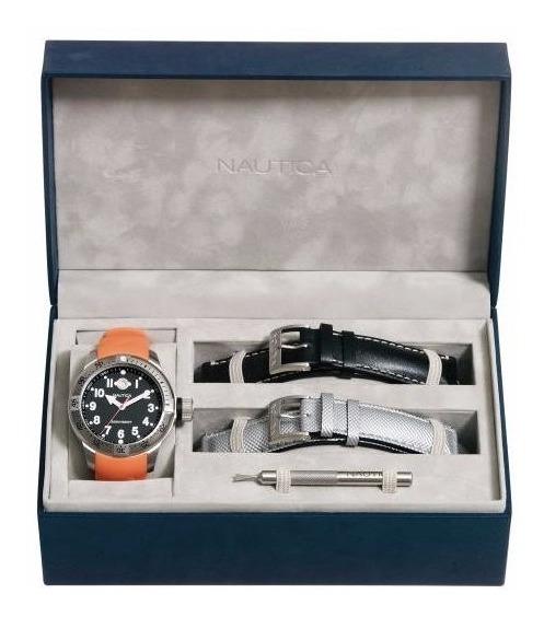 ** Relógio Nautica Bfc Diver Box 3 Pulseiras **
