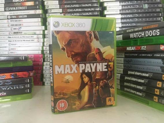 Max Payne 3 Para Xbox 360 Original Em Cd