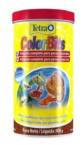Imagem 1 de 2 de Ração Para Peixes Tetra Color Bits Gránulos 300g  Discus