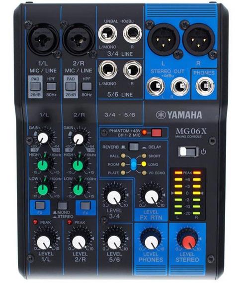 Mesa Mixer De Som Yamaha Mg06x 6 Canais 1 Ano Garantia