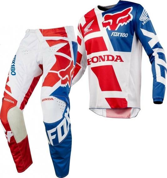 Equipo Conjunto Motocross Fox 180 Honda Avant Motos