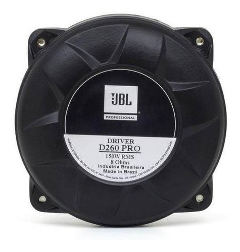 Driver Jbl D260 Pro Fenolico 150 Watts Rms Novo D250x