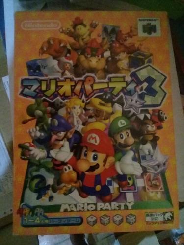 Imagem 1 de 1 de Jogo Mario Party 3 Nintendo 64 Intacto E Completo