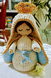Amigurumi Nossa Senhora Das Graças 15cm